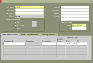 Oracle Apps User Creation