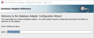 DB Adapter configuration wizard