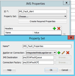Fault Policy Wizard -JMS Properties