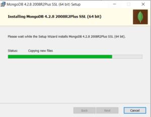 MongoDB Installation progress
