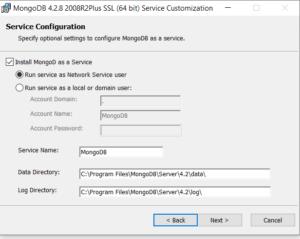 MongoDB Service Configuration
