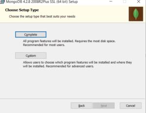 Select MongoDB components