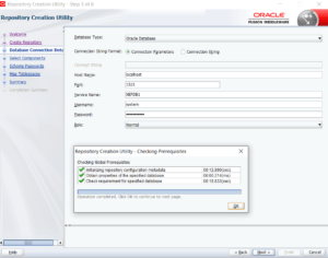 Oracle Database connection details