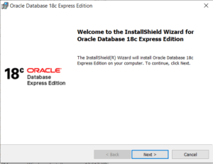 Oracle XE18c Database Installation Wizard