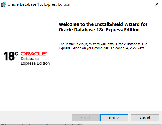 Oracle XE 18c Database installation guide