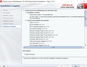 SOA12c installation complete