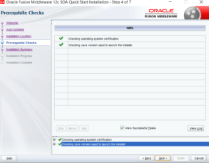 SOA12c installation prerequisite check