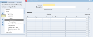 Define Oracle Apps R12 Accounting Calendar